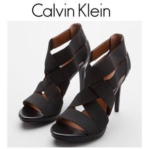 Calvin Klein Allison Black Sandals Size 6M